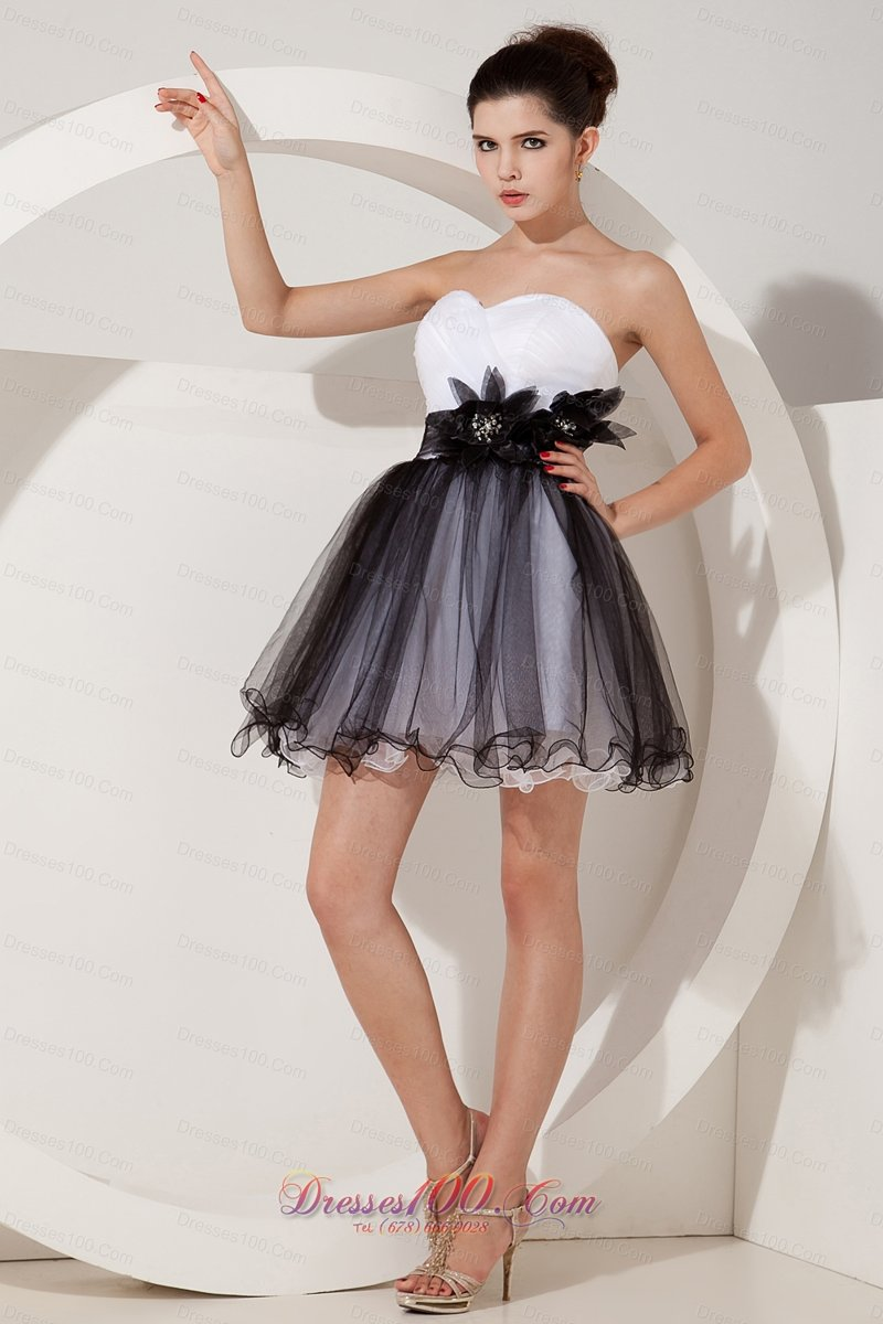 Black And White Short Prom Dresses