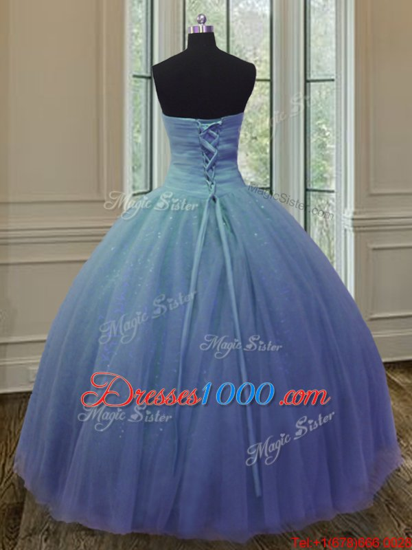 Wonderful Strapless Sleeveless Zipper Sweet 16 Dresses Brown Tulle