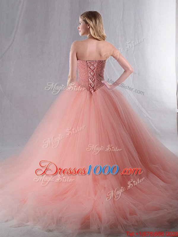 Attractive Gold Sweetheart Neckline Beading Quinceanera Gown Sleeveless Lace Up